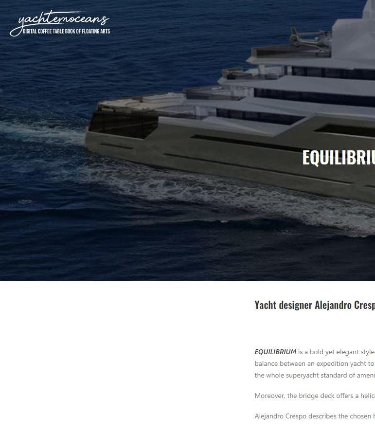 Yacht emoceans-Equilibrium