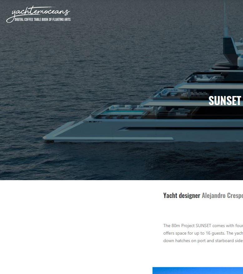 Yacht emoceans-Sunset